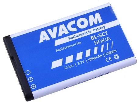 Baterie Avacom pro Nokia 6303, 6730, C5, Li-Ion 3,7V 1050mAh  (náhrad