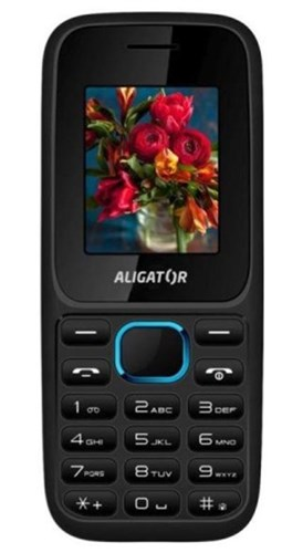 Mobilní telefon Aligator D200 Dual Sim - černý/modrý