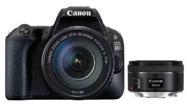 Canon EOS 200D Black+EF-S 18-55+EF50/1,8