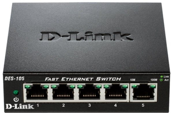 Switch D-Link DES-105 5 port, 10/100 Mb/s
