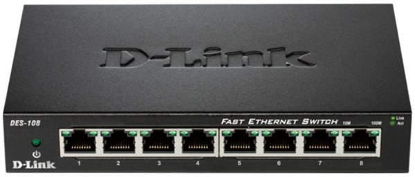 D-LINK 10/100 8-port switch (DES-108)