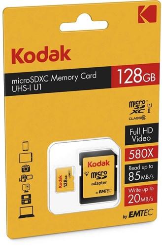 KODAK microSDXC 128GB Class10 U1 adap.