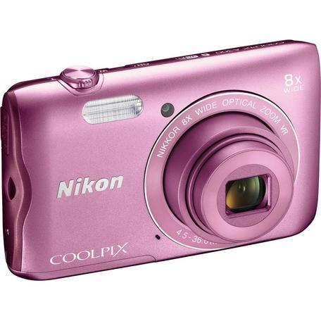 Fotoaparát Nikon Coolpix A300, růžový