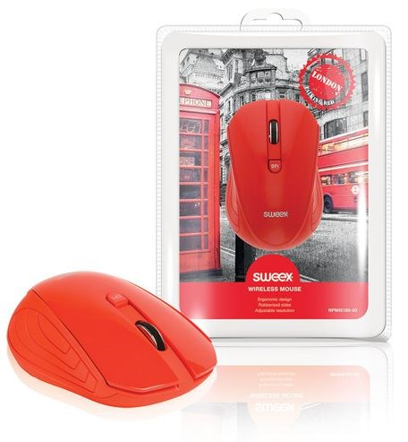 SWEEX London Wireless Mouse, red