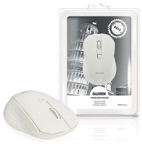 SWEEX Pisa Wireless Mouse, white