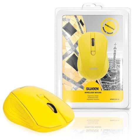 SWEEX Barcelona Wireless Mouse, yellow
