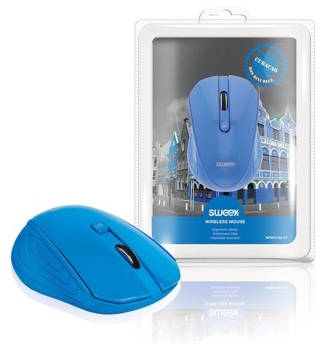 SWEEX Curacao Wireless Mouse, blue
