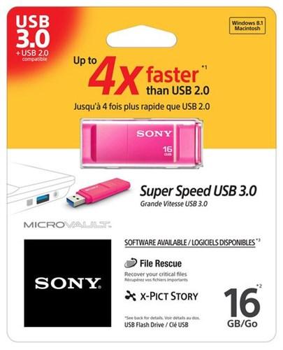 SONY USB Vault GX 16 GB,růžová